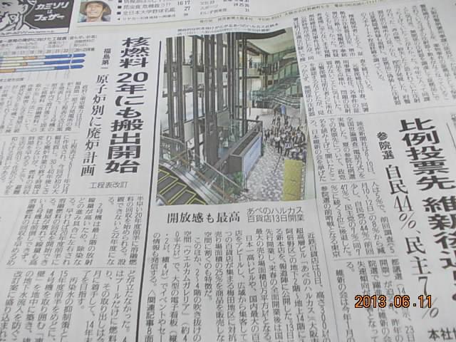 2013年6月11日読売新聞